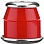 Independent STANDARD CYLINDER CUSHIONS SOFT RED