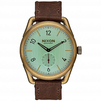 Nixon C39 LEATHER BRASS/GREEN CRYSTAL/BROWN