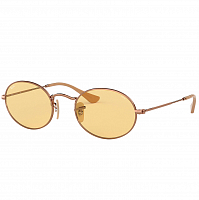 RAY BAN OVAL COPPER/EVOLVE LIGHT YELLOW