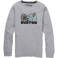 Burton BOYS CUPAJO LS GRAY HEATHER
