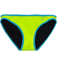 Glidesoul LOW BIKINI BOTTOM 0,5 MM Bright Cyan/ Lemon
