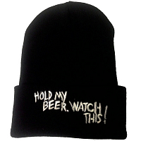 ONEBALL BEANIE - HOLD MY BEER BLACK