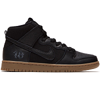 Nike SB ZOOM DUNK HIGH PRO QS BLACK/BLACK-ANTHRACITE-GUM DARK BROWN