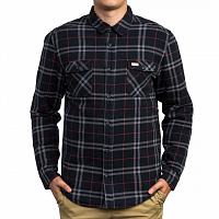 RVCA AR PLAID LS NEW NAVY