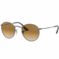 Ray Ban ROUND METAL GUNMETAL/CRYSTAL BROWN GRADIENT