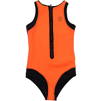 Glidesoul FRONT ZIP ONE-PIECE SWIMSUIT Peach/ Black