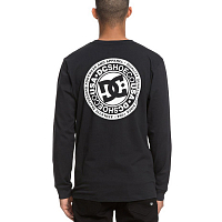 DC CIRCLE STAR LS  M TEES BLACK