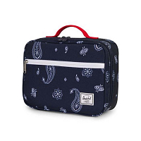 Herschel POP QUIZ LUNCHBOX Bandana Paisley Peacoat/Barbados Cherry
