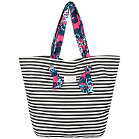 Roxy ACT TOGETHER J TOTE BRIGHT WHITE BASIC STRIPE