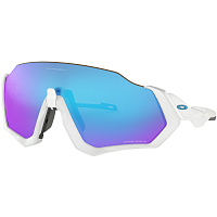 Oakley Flight Jacket Polished White/Prizm Sapphire
