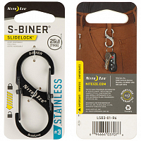 Nite Ize S-BINER SLIDELOCK 3 BLACK