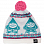 FACTION GNOME BEANIE BEET/WHITE