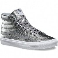Vans SK8-HI SLIM (Foil Metallic) silver/true white