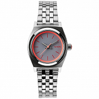 Nixon Small Time Teller SILVER/NEON PINK
