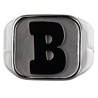 BAKER CAPITAL B RING SILVER