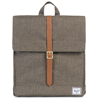 Herschel CITY MID-VOLUME Canteen Crosshatch/Tan Synthetic Leather