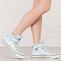 CONVERSE Chuck Taylor All Star Brea Leather + Fur POLAR BLUE/BLACK/EGRET