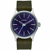 Nixon SENTRY 38 LEATHER PURPLE/OLIVE