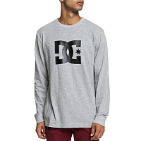 DC STAR LS M TEES GREY HEATHER