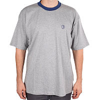 Polar RINGER TEE HEATHER GREY/NAVY