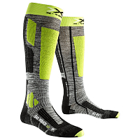 X-Socks XS SKI RIDER 2.0 Grey Melange/Green Lime