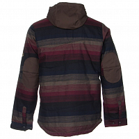 686 AUTHENTIC WOODLAND INS JACKET Black Yarn-Dye Stripe