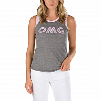 Vans WM CAREFREE MUSCLE RAGLAN GREY HEATHER-PINK LADY