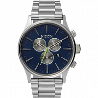 Nixon Sentry Chrono Midnight Blue/Volt Green