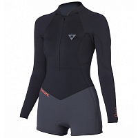 Mystic DIVA 3/2 D/L LONGARM SUPER SHORTY FRONTZIP BLACK