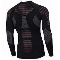 BODY DRY BIONIC LONG SLEEVE SHIRT BLACK/RED