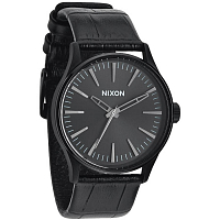 Nixon SENTRY 38 LEATHER BLACK GATOR
