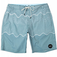 RVCA PULLED LINES TRUNK CASCADE BLUE