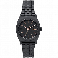 Nixon Small Time Teller ALL BLACK/ROSE GOLD