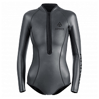 ANKER 2MM VERA SHORTY SUIT FRONTZIP ANTHRACITE