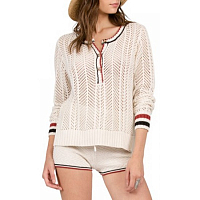 Volcom THUMBS UP HENLEY VINTAGE WHITE