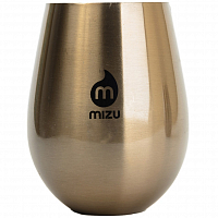 MIZU NIXON WINE CUP SET (2) LOCK UP Glossy Rose Gold w/ Black Print