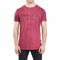 Mystic SCARCE TEE RED DARK