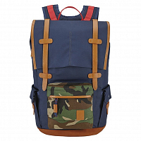Nixon BOULDER BACKPACK NAVY / WOODLAND CAMO