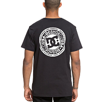 DC CIRCLE STAR FB  M TEES BLACK