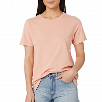 Rusty BARE CREW NECK SHORT SLEEVE TEE SHELL PINK