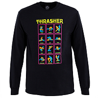 THRASHER BLACK LIGHT LONGSLEEVE BLACK