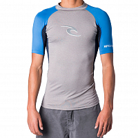 Rip Curl WAVE S/SL UV TEE LIGHT GREY HEATHER