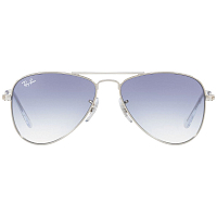 Ray Ban JUNIOR AVIATOR SILVER/CLEAR GRADIENT LIGHT BLUE