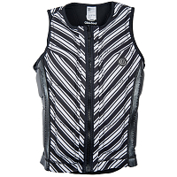 Glidesoul BLACK PEARL COLLECTION REVERSIBLE IMPACT VEST Stripes/Sparkling Black GS