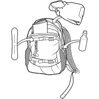 Burton DAY HIKER PACK SKYDIVER RIPSTOP