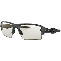 Oakley FLAK 2.0 XL STEEL/CLEAR BLACK IRIDIUM PHOTOCROMIC