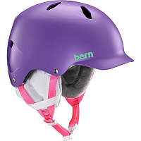 Bern BANDITO JR. UNISEX Satin Purple/White Liner