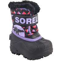 SOREL TODDLER SNOW COMMANDER PRINT Black, Paisley Purple