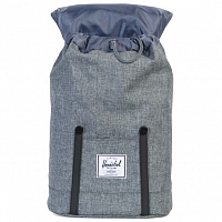Herschel RETREAT RAVEN CROSSHATCH/BLACK RUBBER