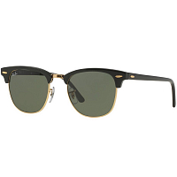 Ray Ban Clubmaster EBONY/ ARISTA/GREEN